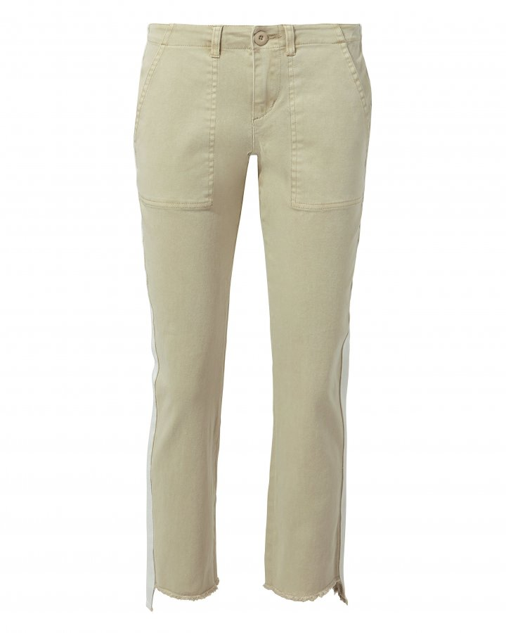 Offset Side Stripe Skinny Pants