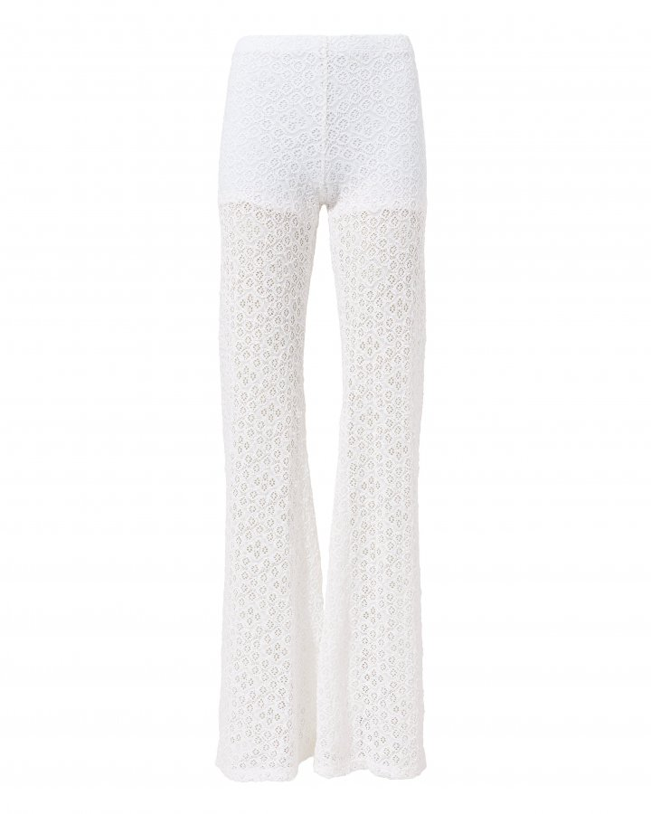 Diamond Lace Bell Pants