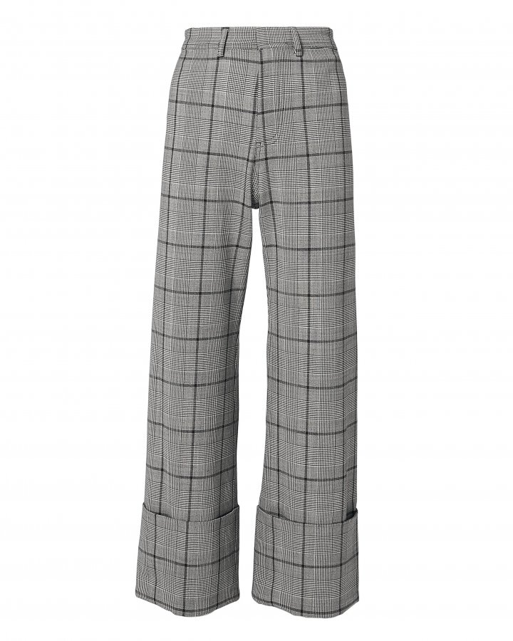Bacall Plaid Cuff Trousers