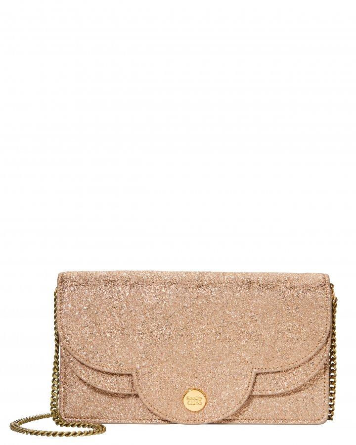 Polina Glitter Chain Wallet