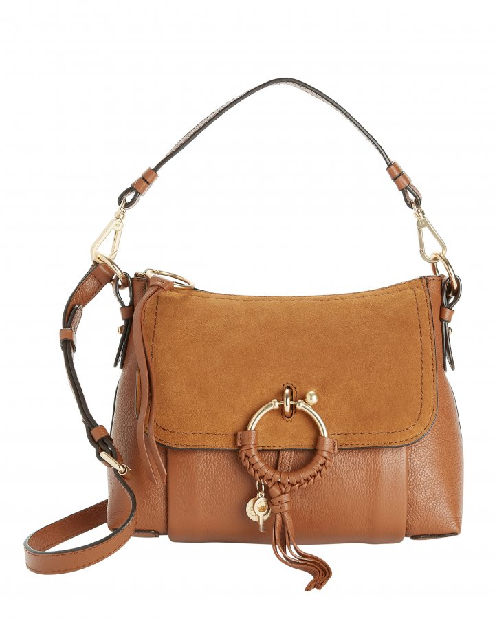 Joan Suede Medium Shoulder Bag