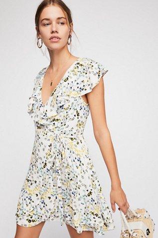 French Quarter Wrap Mini Dress