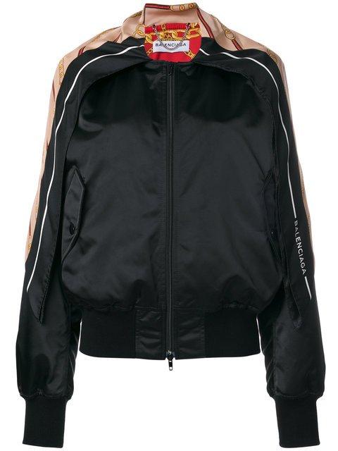 Balenciaga Scarf Detail Bomber Jacket - Farfetch