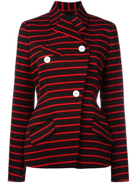 Proenza Schouler Wrap Front Striped Jacket - Farfetch