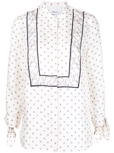 3.1 Phillip Lim Printed Tie Sleeve Blouse - Farfetch