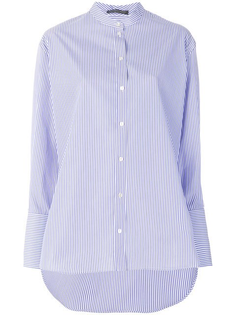 Alexander McQueen Striped Grandad Shirt - Farfetch