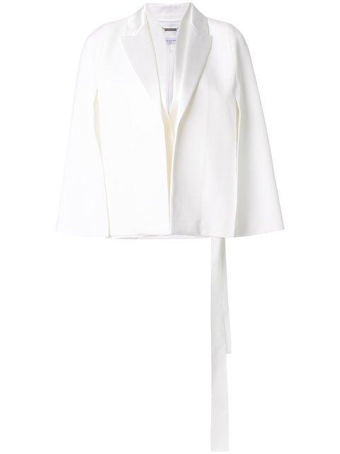 Givenchy Grain De Poudre Tuxedo Collar Cape Jacket - Farfetch