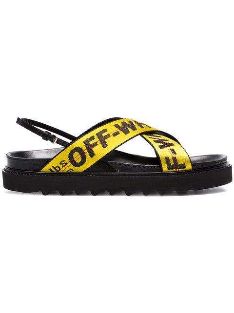 Off-White Black Industrial Belt Leather Sandals - Farfetch