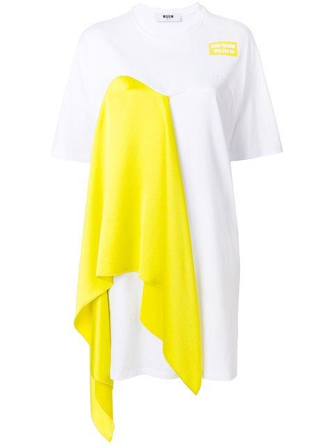 MSGM Draped T-shirt Dress - Farfetch