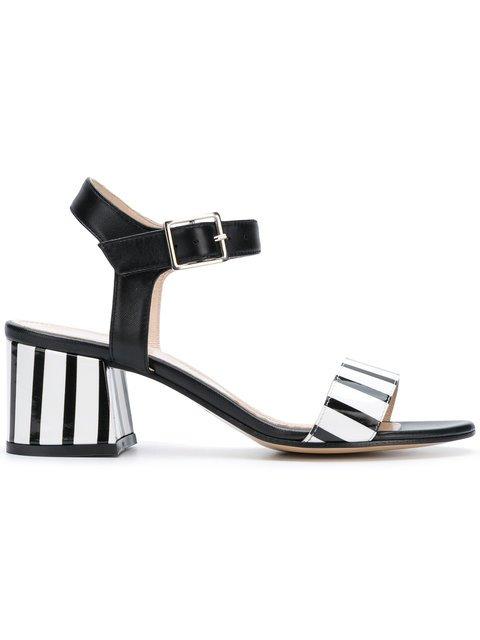 Marc Ellis Striped Strap Sandals  - Farfetch