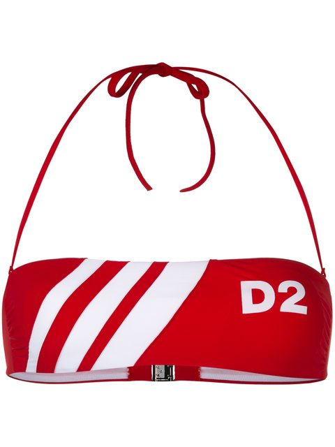 Dsquared2 D2 Striped Bandeau Bikini Top - Farfetch