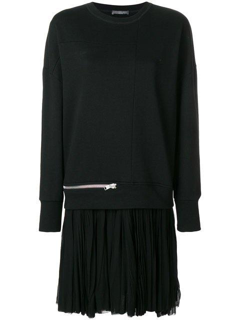 Alexander McQueen Oversized Zip Detail Sweatshirt - Farfetch