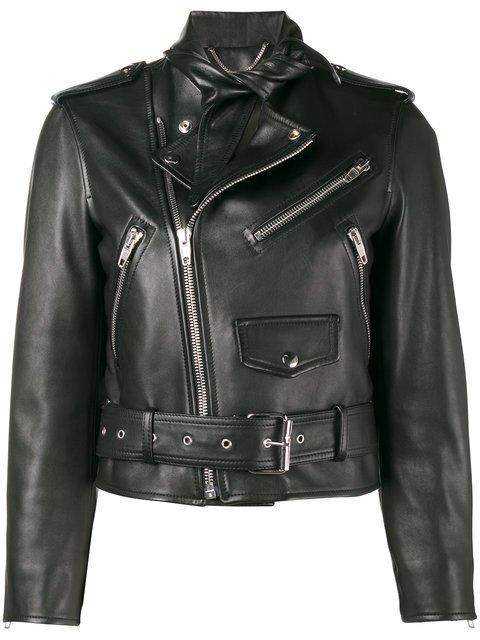 Balenciaga Scarf Biker Jacket - Farfetch