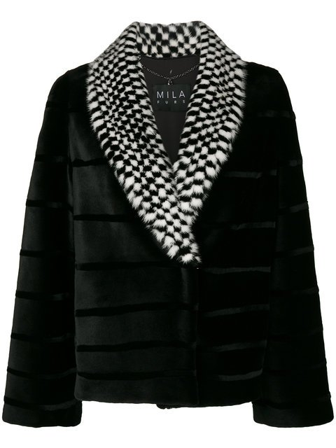 Cara Mila Midira Checkered Mink Jacket - Farfetch