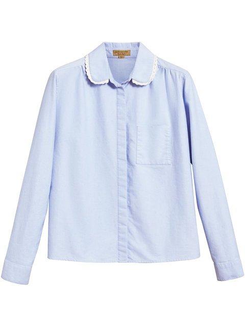 Burberry Lace Trim Collar Shirt  - Farfetch