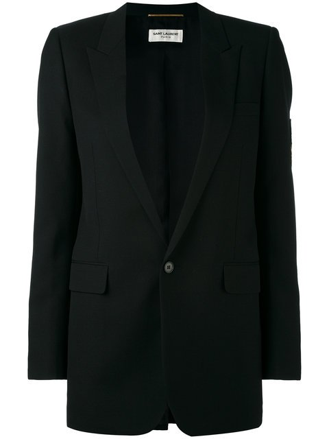 Saint Laurent Classic Single Breasted Long Tube Jacket - Farfetch