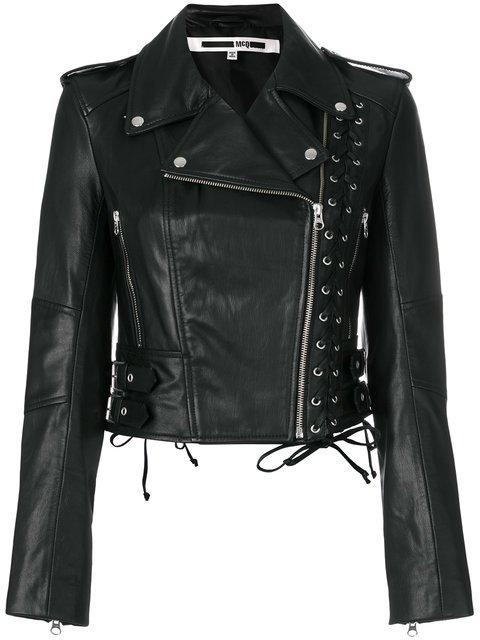 McQ Alexander McQueen Eyelet Biker Jacket - Farfetch