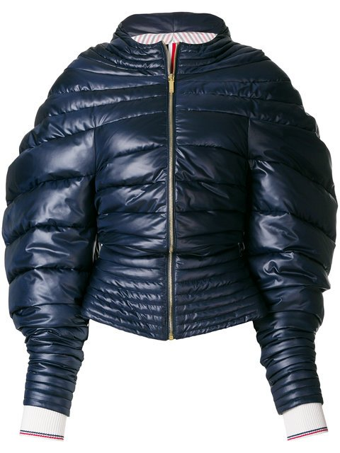 Thom Browne Downfill Hooded Jacket With Center Front Zip In Ripstop - Farfetch
