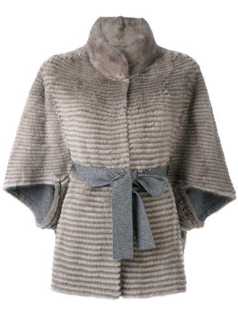 Liska Belted Fur Jacket - Farfetch