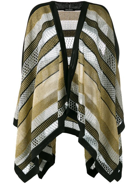 Balmain Knitted Cape - Farfetch