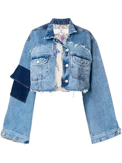 Natasha Zinko Oversized Cropped Jacket - Farfetch