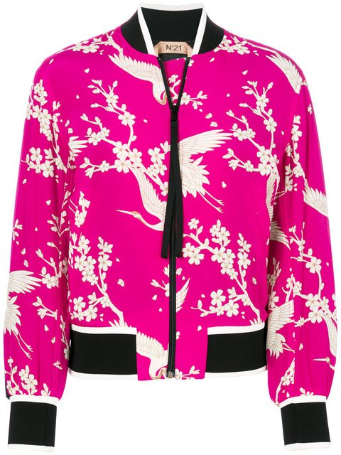 Nº21 Floral And Bird Print Bomber Jacket - Farfetch