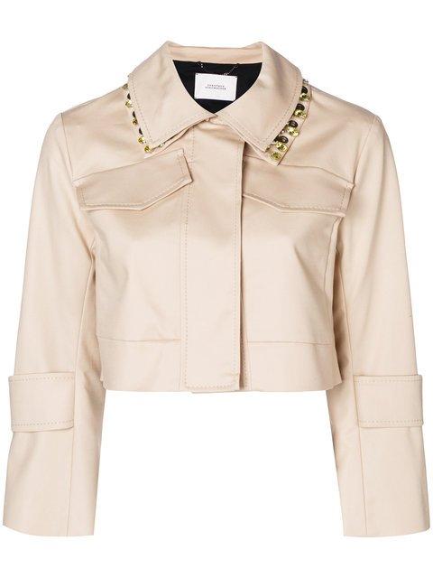 Dorothee Schumacher Cropped Embellished Collar Jacket - Farfetch