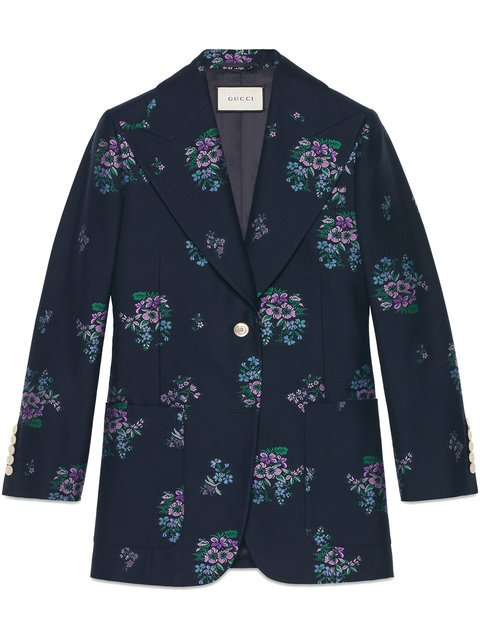 Gucci Flowers Fil Coupé Cotton Wool Jacket - Farfetch