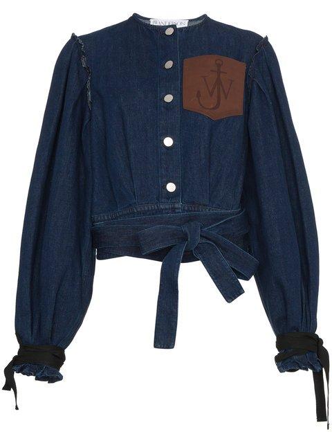 JW Anderson Leather Pocket Denim Jacket - Farfetch