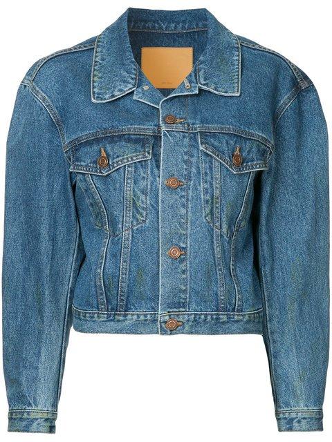We11done Cropped Denim Jacket  - Farfetch