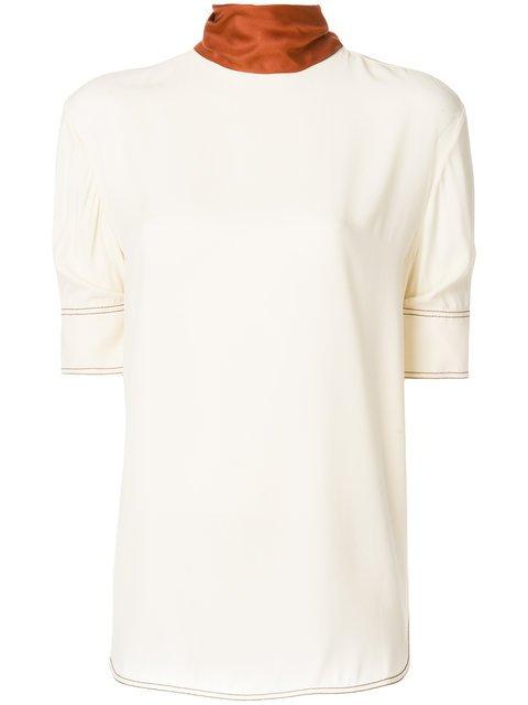 Marni Contrast Collar T-shirt - Farfetch
