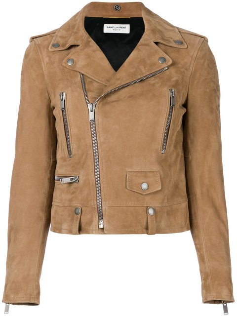 Saint Laurent Suede Biker Jacket - Farfetch