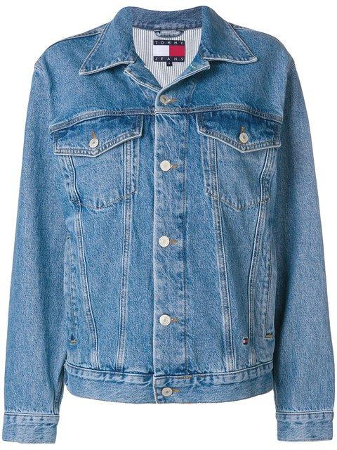 Tommy Jeans Rear Logo Denim Jacket - Farfetch