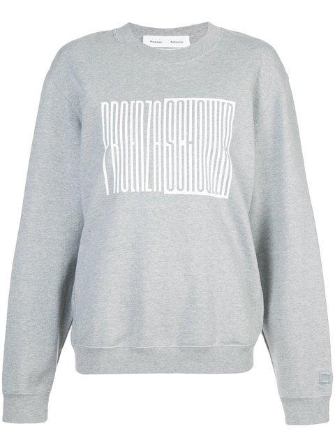 Proenza Schouler PSWL Oversized Crewneck Sweatshirt - Farfetch