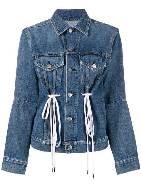 Proenza Schouler PSWL Denim Drawstring Jacket - Farfetch