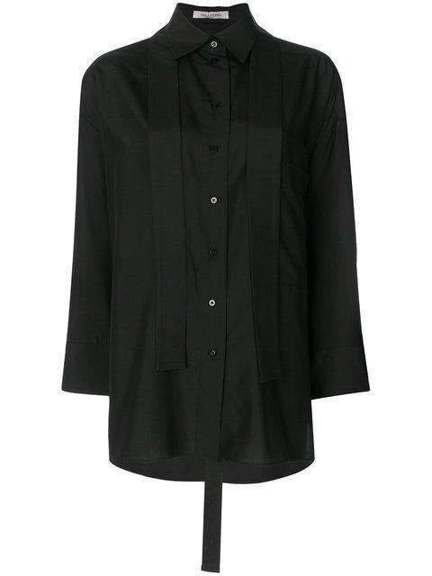 Valentino Oversized Neck Tie Shirt - Farfetch