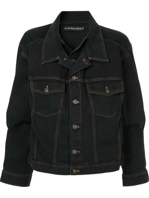 Y / Project Double-collar Denim Jacket - Farfetch