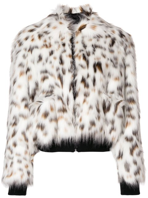MSGM Faux Fur Bomber Jacket - Farfetch