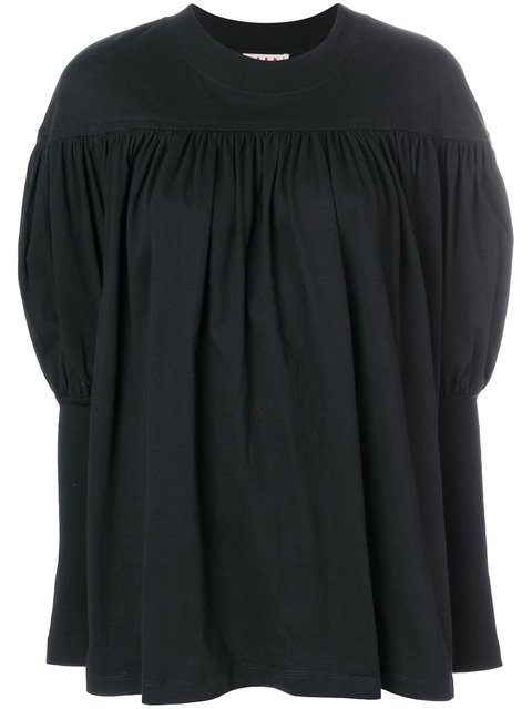 Marni Pleated Top With Puff Sleeves - Farfetch