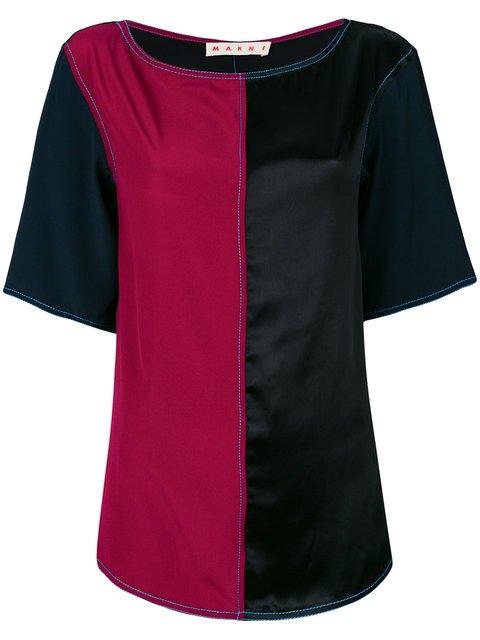 Marni Colour Block Blouse - Farfetch