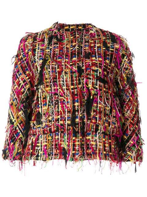 Alexander McQueen Cropped Tweed Jacket - Farfetch