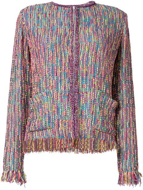 Etro Fringe Tweed Jacket - Farfetch