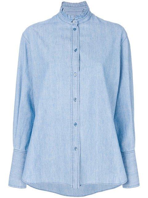 Alexander McQueen Ruffle Collar Shirt - Farfetch