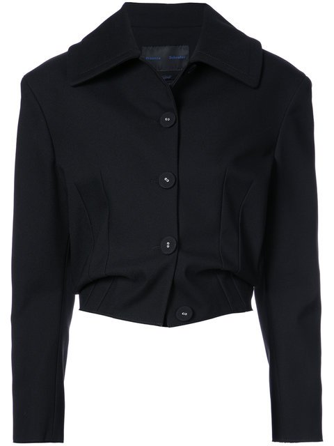 Proenza Schouler Single Breasted Cropped Jacket - Farfetch