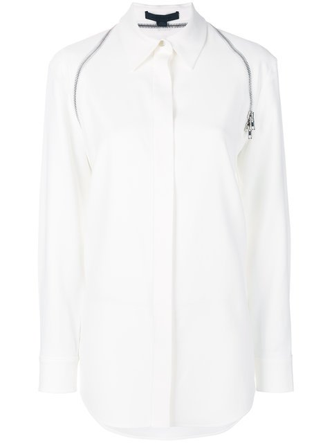Alexander Wang Zipper Detail Button Down Shirt - Farfetch