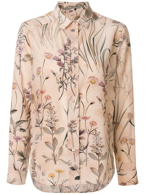 Bottega Veneta Botanical Print Blouse - Farfetch