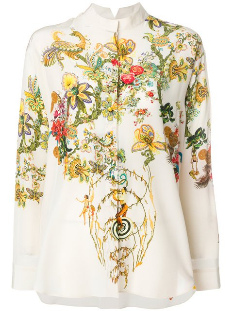 Etro Floral Print Shirt - Farfetch