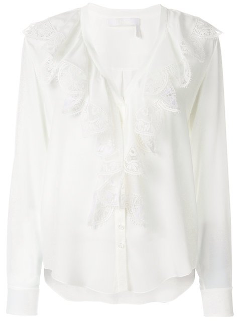 Chloé Ruffled Lace Top - Farfetch