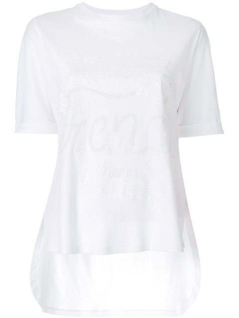 Fendi Embroidered Logo T-shirt - Farfetch