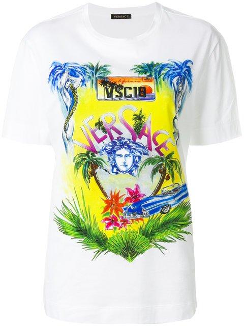 Versace Printed Medusa T-shirt - Farfetch